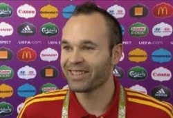 Spain's Iniesta named player of the tournament