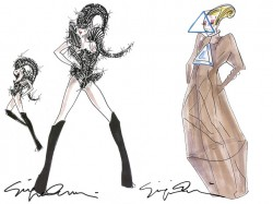 Giorgio Armani Designs Costumes for Lady Gaga's Asian Tour
