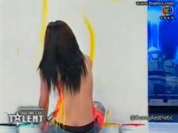 Breast painting shocks minister