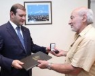 The RA People's Artist, sculptor Levon Tokmajyan was awarded the Gold medal of the Mayor of Yerevan