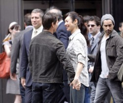 Tom Cruise and Olga Kurylenko Flirting on the Set